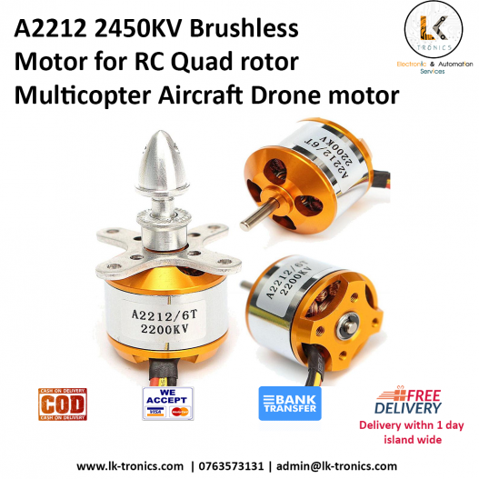 1 Piece A2212 2450KV Brushless Motor for RC Quad rotor Multicopter Aircraft Drone motor