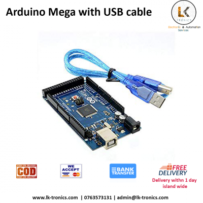Arduino Mega 2560 R3 with USB cable