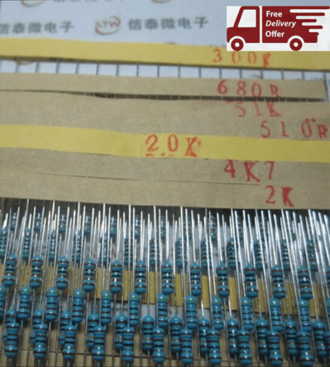 Set 600pcs 30 Kind 1 4W Resistance 1 Metal Film Resistor Assorted Kit Each 20 Free