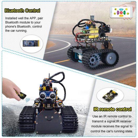 2020 NEW Upgraded Keyestudio DIY Mini Tank V2 0 Smart Robot Car Kit for Arduino Robot 4