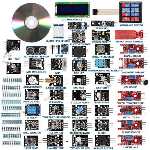 37 in 1 Sensor Modules Kit with Tutorial for R3 Board Mega2560 Mega328 Nano Compatible with