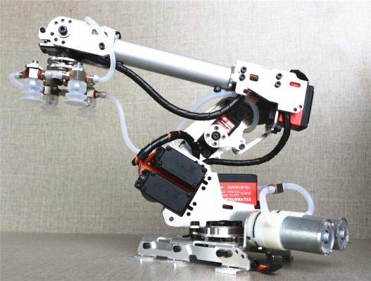 6DOF mechanical arm air pump aluminum alloy industrial robot model six axis robot 201 arduino suction