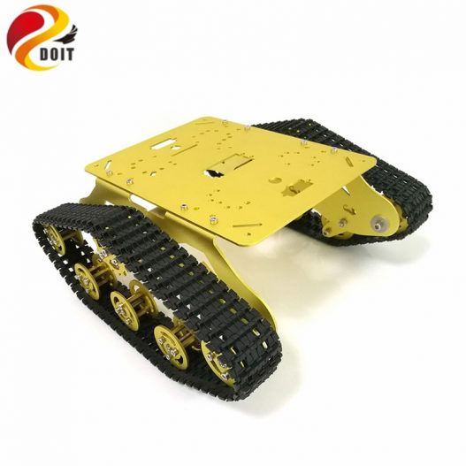 DOIT TS300 Tracked Robot Smart Car Platform with Damping Effect System for Arduino Raspberry Pi DIY 3