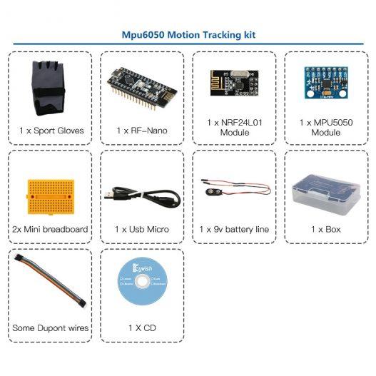 Gesture Motion Starter Kit for Arduino Nano V3 0 Robot Educational Stem Cars Toys MPU6050 6 3