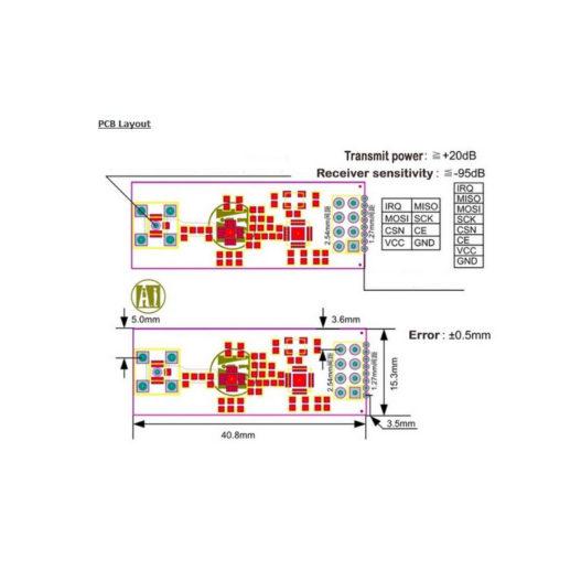 Long range nRF24L01 PA LNA RF transceiver PCB Layout