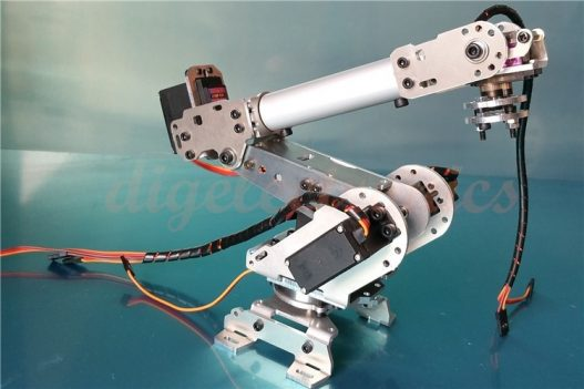 Sliver 6Dof Mechanical Robot Arm Full Steel Bearing Arm Claw With Servos For Arduino Robotics DIY 5