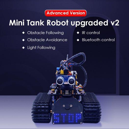 2020 NEW Upgraded Keyestudio DIY Mini Tank V2 0 Smart Robot Car Kit for Arduino Robot